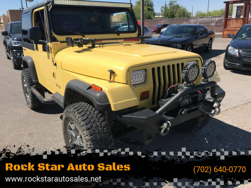 1991 Jeep Wrangler for sale at Rock Star Auto Sales in Las Vegas NV