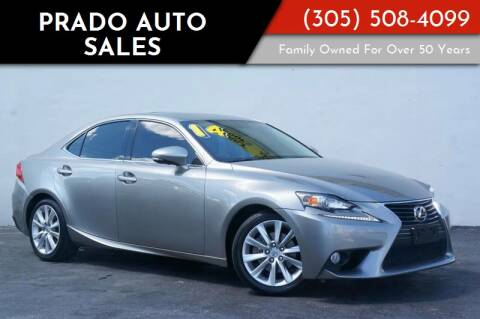 2014 Lexus IS 250 for sale at Prado Auto Sales in Miami FL