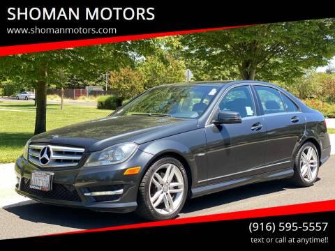 2012 Mercedes-Benz C-Class for sale at SHOMAN MOTORS in Davis CA