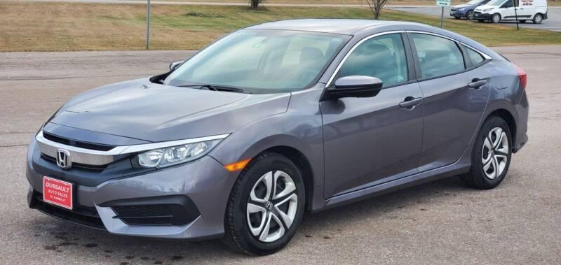 2018 Honda Civic for sale at Dussault Auto Sales in Saint Albans VT