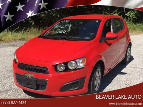 2016 Chevrolet Sonic for sale at Beaver Lake Auto in Franklin NJ