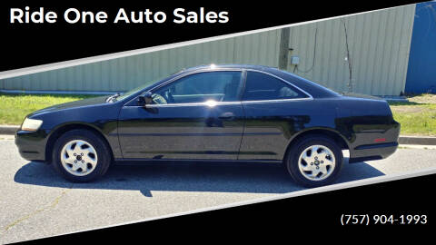 1999 Honda Accord for sale at Ride One Auto Sales in Norfolk VA