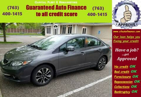 2013 Honda Civic for sale at Capital Fleet  & Remarketing  Auto Finance in Columbia Heights MN