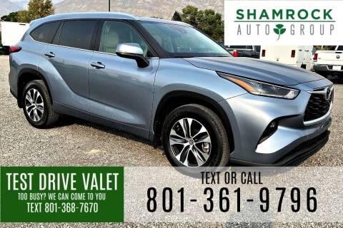 2021 Toyota Highlander for sale at Shamrock Group LLC #1 in Pleasant Grove UT
