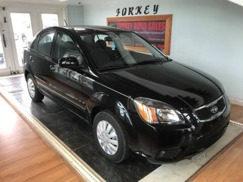 2010 Kia Rio for sale at Forkey Auto & Trailer Sales in La Fargeville NY