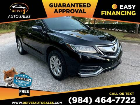 2016 Acura RDX for sale at Drive 1 Auto Sales in Wake Forest NC