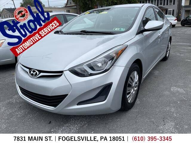 2016 Hyundai Elantra for sale at Strohl Automotive Services in Fogelsville PA
