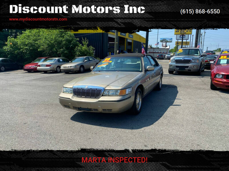 1999 Mercury Grand Marquis for sale at Discount Motors Inc in Madison TN