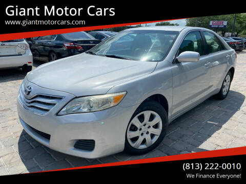 2010 Toyota Camry for sale at Giant Motor Cars in Tampa FL
