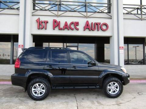 2004 Lexus GX 470 for sale at First Place Auto Ctr Inc in Watauga TX