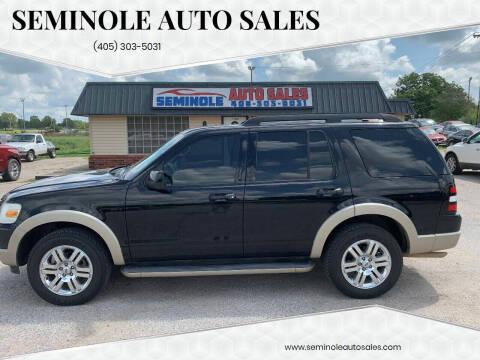 2009 Ford Explorer for sale at Seminole Auto Sales in Seminole OK
