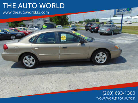 2006 Ford Taurus for sale at THE AUTO WORLD in Churubusco IN