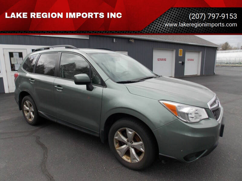 2014 Subaru Forester for sale at LAKE REGION IMPORTS INC in Westbrook ME