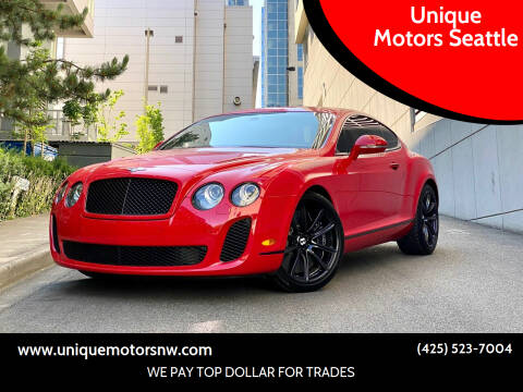 2010 Bentley Continental for sale at Unique Motors Seattle in Bellevue WA