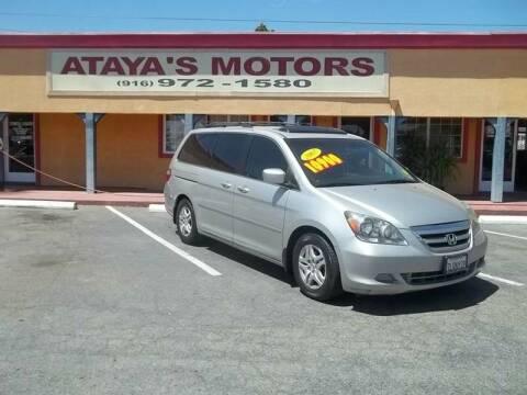2007 Honda Odyssey for sale at Atayas Motors INC #1 in Sacramento CA