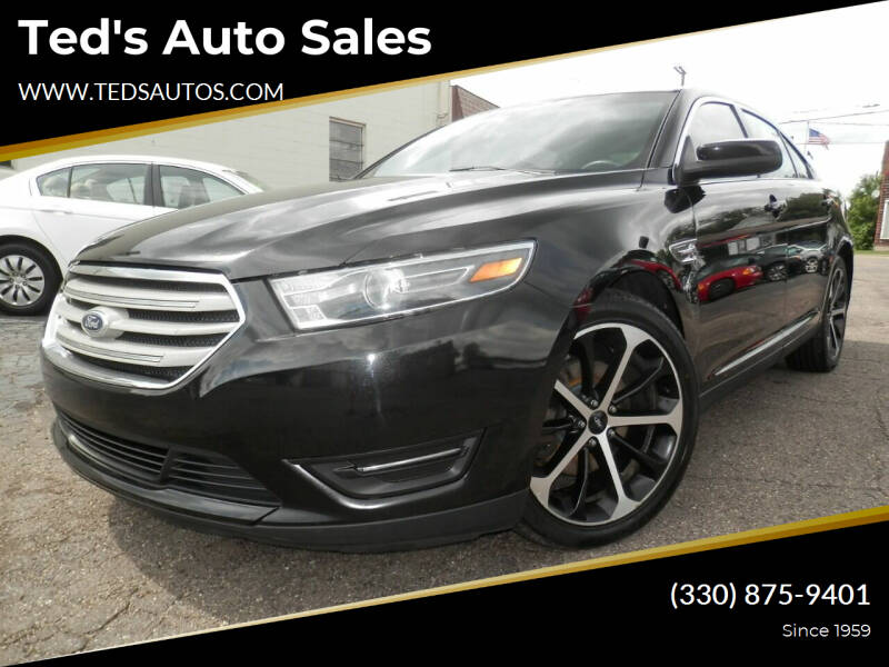 2015 Ford Taurus for sale at Ted's Auto Sales in Louisville OH