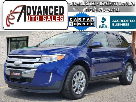2013 Ford Edge for sale at Advanced Auto Sales in Tewksbury MA