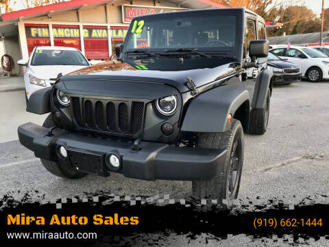 2012 Jeep Wrangler for sale at Mira Auto Sales in Raleigh NC