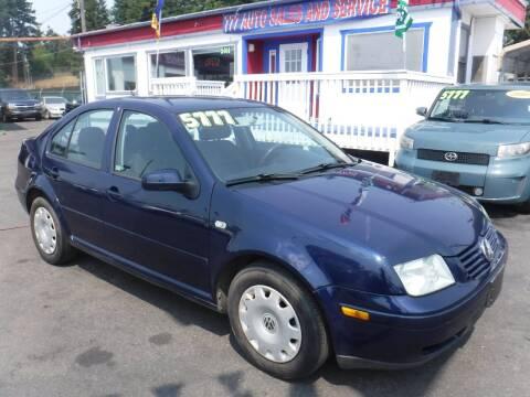 2001 Volkswagen Jetta for sale at 777 Auto Sales and Service in Tacoma WA