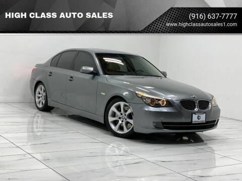 2008 BMW 5 Series for sale at HIGH CLASS AUTO SALES in Rancho Cordova CA
