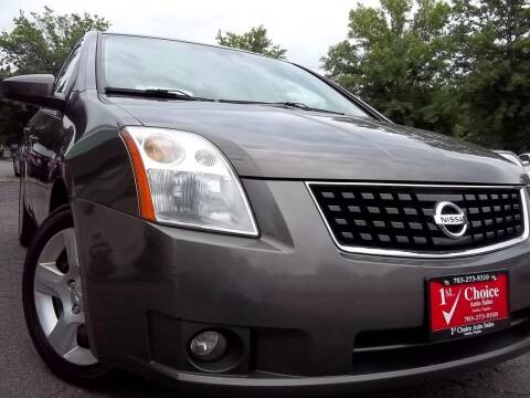 2008 Nissan Sentra for sale at 1st Choice Auto Sales in Fairfax VA