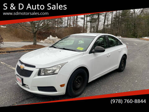 2011 Chevrolet Cruze for sale at S & D Auto Sales in Maynard MA