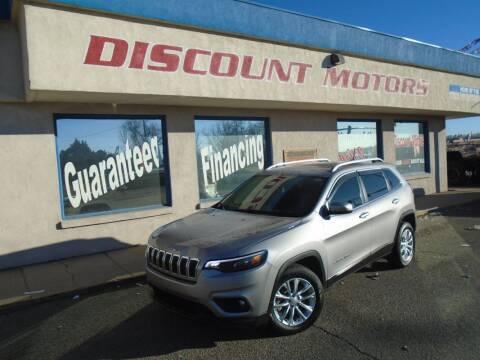 2019 Jeep Cherokee for sale at Discount Motors in Pueblo CO