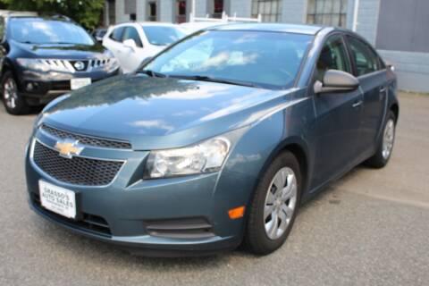 2012 Chevrolet Cruze for sale at Grasso's Auto Sales in Providence RI