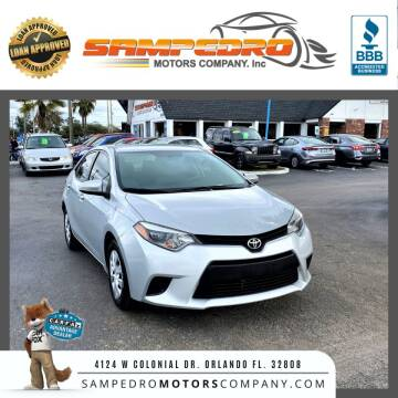 2016 Toyota Corolla for sale at SAMPEDRO MOTORS COMPANY INC in Orlando FL