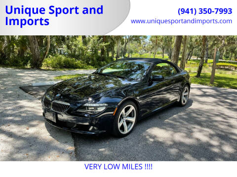 2009 BMW 6 Series for sale at Unique Sport and Imports in Sarasota FL