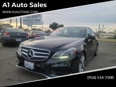 2014 Mercedes-Benz E-Class for sale at A1 Auto Sales in Sacramento CA