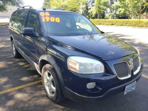 2006 Pontiac Montana SV6 for sale at Low Price Auto and Truck Sales, LLC in Brooks OR