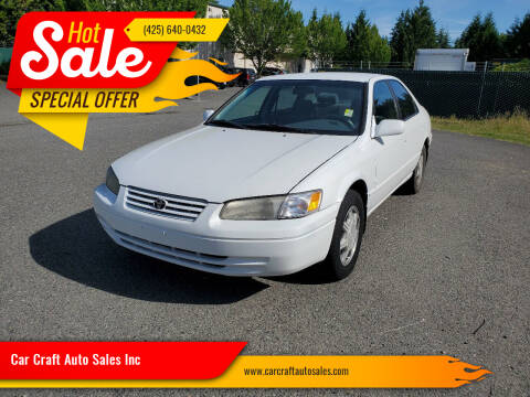 1997 Toyota Camry for sale at Car Craft Auto Sales Inc in Lynnwood WA