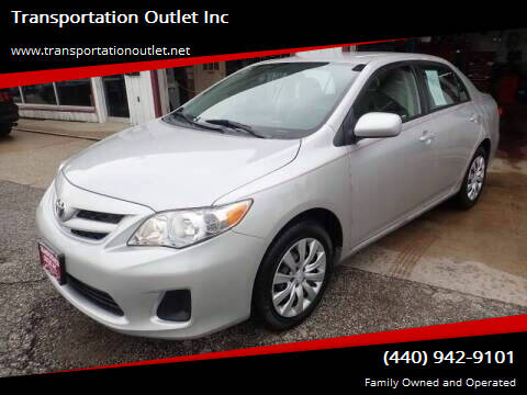 2012 Toyota Corolla for sale at Transportation Outlet Inc in Eastlake OH