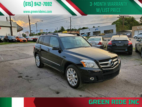 2012 Mercedes-Benz GLK for sale at Green Ride Inc in Nashville TN