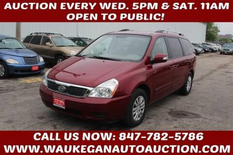 2011 Kia Sedona for sale at Waukegan Auto Auction in Waukegan IL
