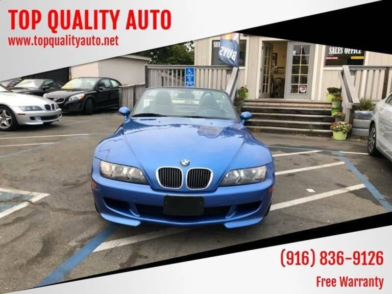 2000 BMW Z3 for sale at TOP QUALITY AUTO in Rancho Cordova CA