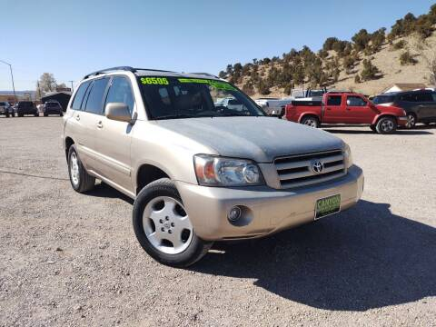 2007 Toyota Highlander for sale at Canyon View Auto Sales in Cedar City UT