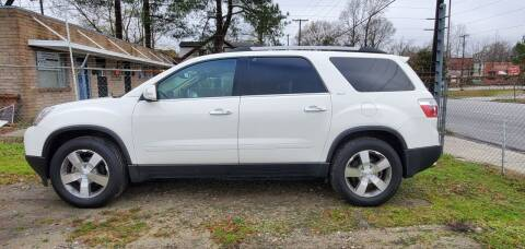2011 GMC Acadia for sale at Tims Auto Sales in Rocky Mount NC