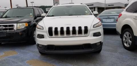 2016 Jeep Cherokee for sale at Sissonville Used Cars in Charleston WV