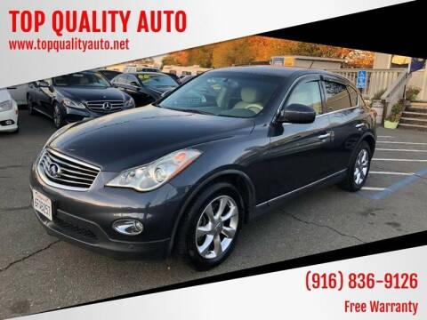 2008 Infiniti EX35 for sale at TOP QUALITY AUTO in Rancho Cordova CA