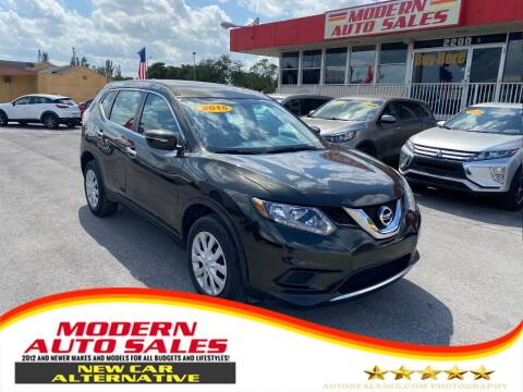 2015 Nissan Rogue for sale at Modern Auto Sales in Hollywood FL