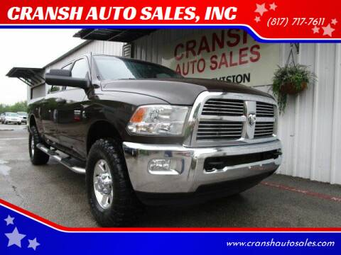 2011 RAM Ram Pickup 2500 for sale at CRANSH AUTO SALES, INC in Arlington TX