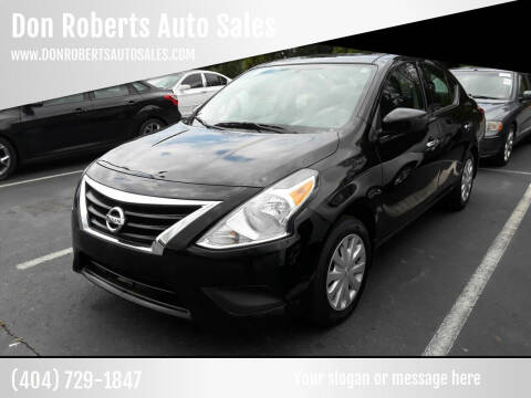 2016 Nissan Versa for sale at Don Roberts Auto Sales in Lawrenceville GA