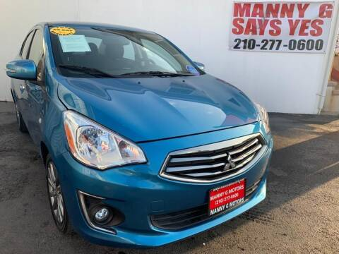 2017 Mitsubishi Mirage G4 for sale at Manny G Motors in San Antonio TX
