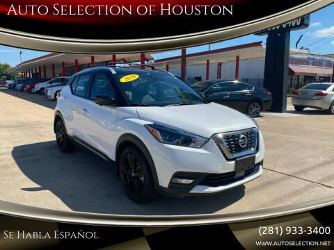 2020 Nissan Kicks for sale at Auto Selection of Houston in Houston TX
