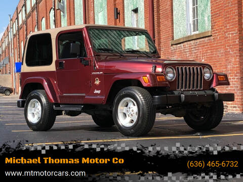 2002 Jeep Wrangler for sale at Michael Thomas Motor Co in Saint Charles MO