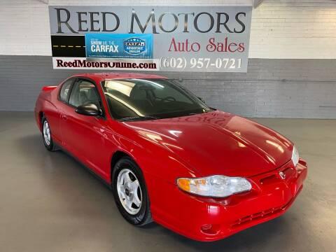 2005 Chevrolet Monte Carlo for sale at REED MOTORS LLC in Phoenix AZ