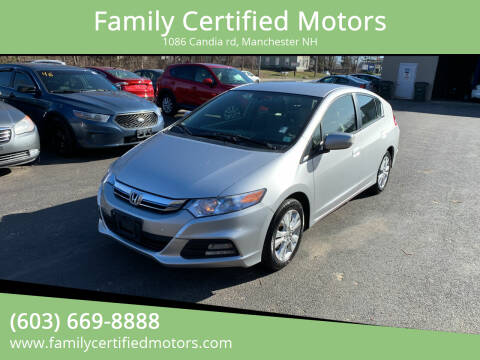 2013 Honda Insight for sale at Family Certified Motors in Manchester NH