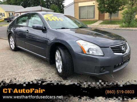 2008 Nissan Maxima for sale at CT AutoFair in West Hartford CT